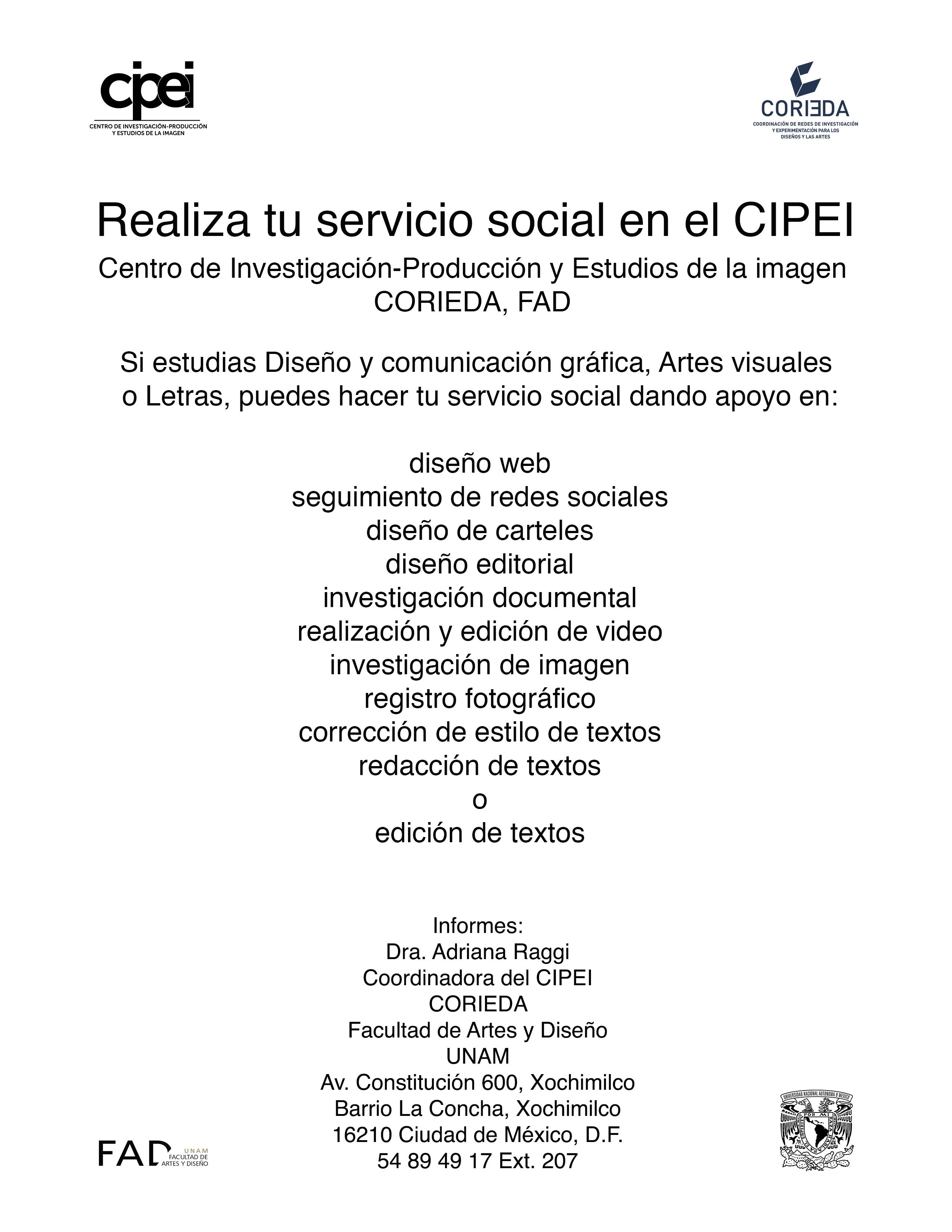 Realiza tu servicio social en el CIPEI – ICDAC