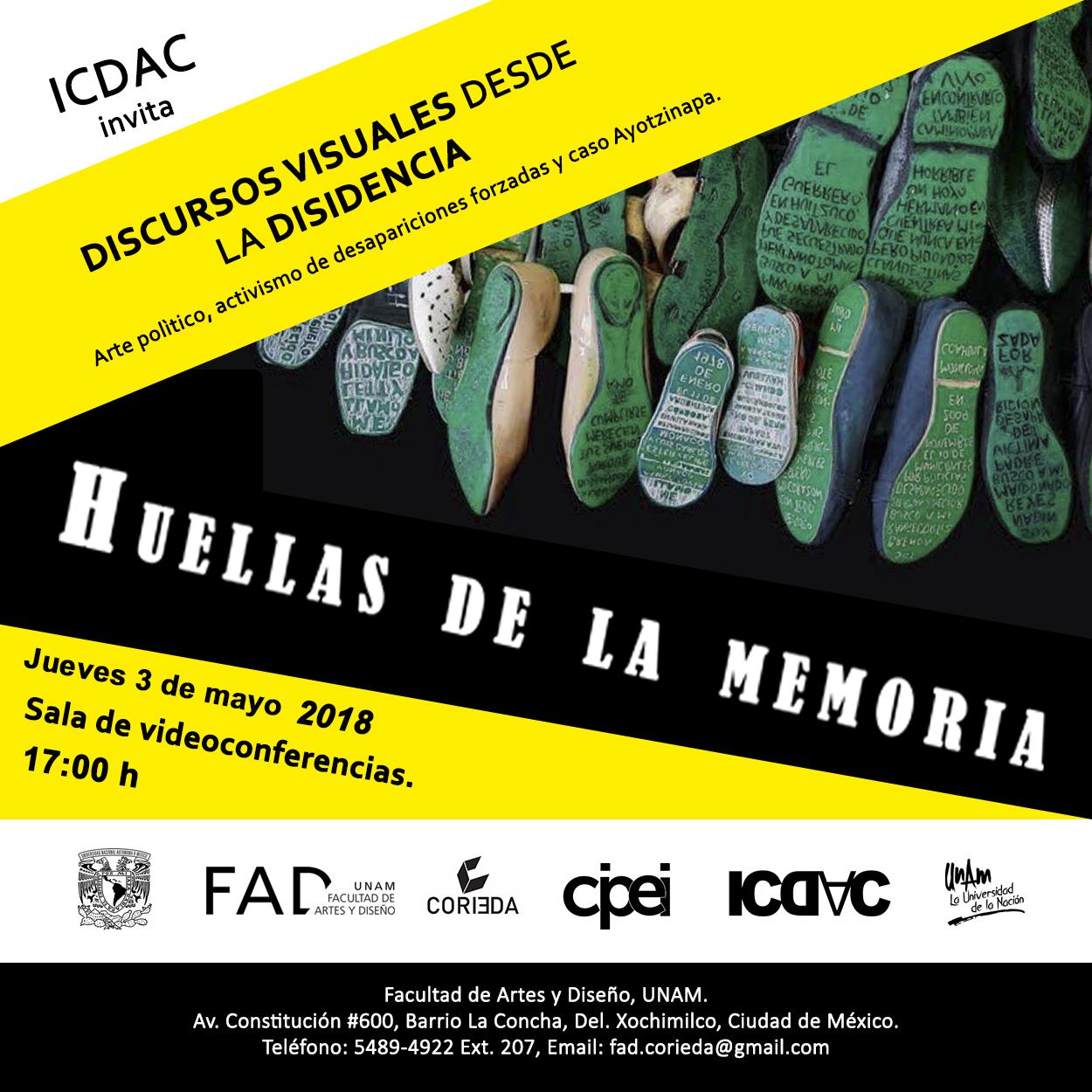 cuadradoDiscursos, HUELLAS DE LA MEMORIA